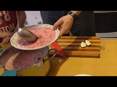 Как приготовить холодник из свеклы! Борщ литовский   Лысый Повар