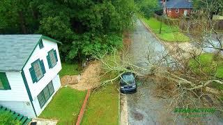 Hurrican Michael damage in Columbus, Ga - Drone Footage