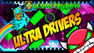 GEOMETRY DASH (Medium Demon) - 44 - ULTRA DRIVERS by LazerBlitz