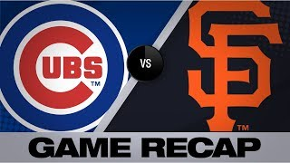 Cubs use long ball in 4-1 win over Giants | Cubs-Giants Game Highlights 7/24/19