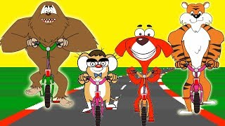 Rat-A-Tat |'Animals Motorbikes Race + More Videos for Children'| Chotoonz Kids Funny Cartoon Videos