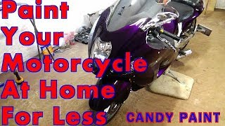 Paint Your Motorcycle At Home For Less..CANDY PURPLE ALLKANDY WET WET PLUS SUZUKI HAYABUSA GSX1300R
