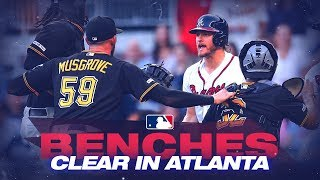 Tempers flare, benches clear in Atlanta!