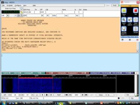 2010 Military to Amateur Crossband Test - MT63 deep fade at KB3FXI