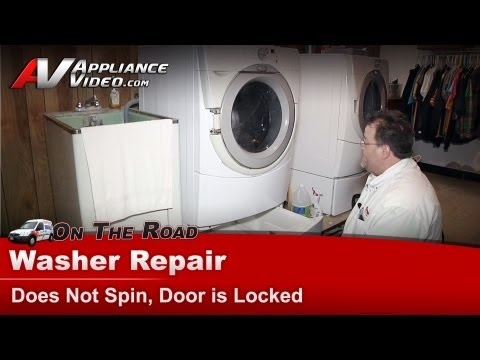 Whirlpool Washer Repair - Does Not Spin. Door is Locked - GHW9100LW1