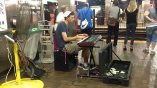Caleb Hensinger: Great Busking Talent at Park Street Station in Boston