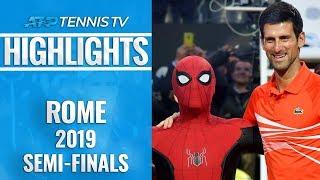 Nadal & Djokovic Set Up Final Showdown   Rome 2019 Semi-Final Highlights