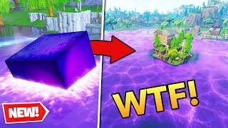Ninja reacts to cube melting into loot lake! Fortnite EPIC moments