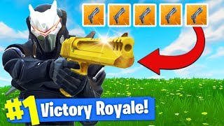 The *GOLDEN* HAND CANNON Challenge In Fortnite Battle Royale!