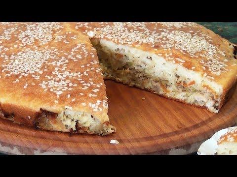 Заливной капустный пирог с курицей | Простой и очень вкусный рецепт