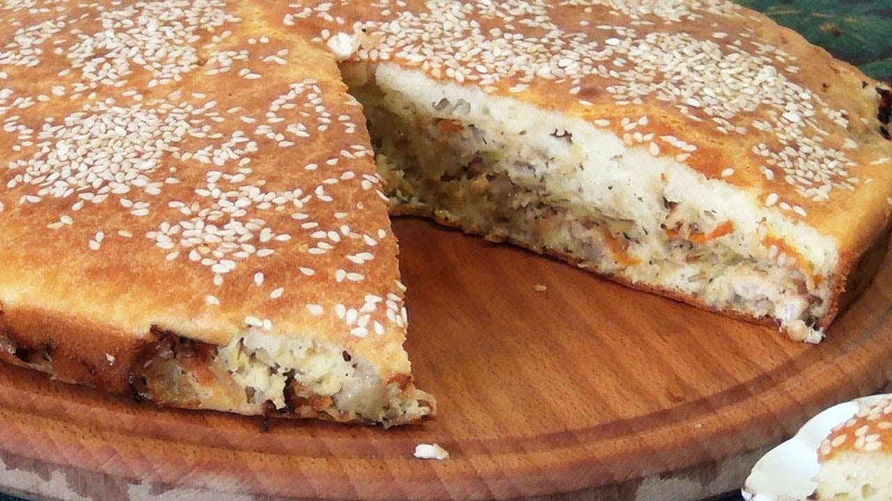 приготовить пирог с капустой заливной