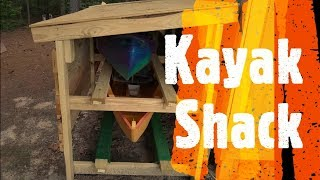 Kayak Storage Shed / Rack (Do It Yourself / Homemade)