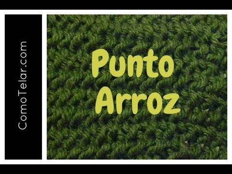 Punto Arroz Tejido en Telar - Seed Stitch on Loom in Spanish