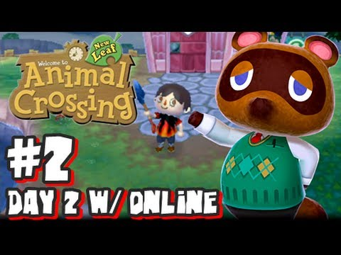 Animal Crossing New Leaf: (1080p) - Part 2 - Day 2