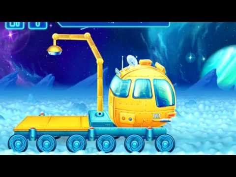 Kids Big Outer Space Construction Machines Review Demo: Mission-4 LOADER (Big Trucks and Vehicles)
