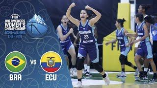 LIVE Brazil v Ecuador FIBA U16 Women's Americas Championship 2019