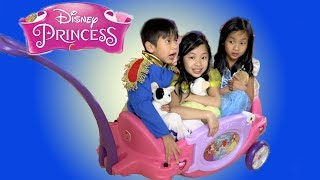 Chloe Pretend Play with Princess Wagon Toy with Kaycee Fun TV