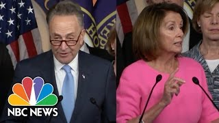 Chuck Schumer, Nancy Pelosi Attack GOP's Healthcare Agenda After Obama Meeting | NBC News