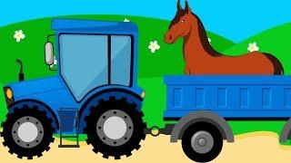 Все про лошадей для детей - мультфильм (мультик, видео) про домашних животных на ферме - Amaze Kids