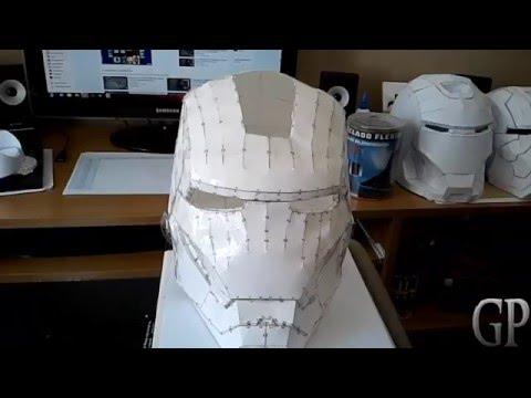 Iron Man Casco Helmet Pepakura Papercraft