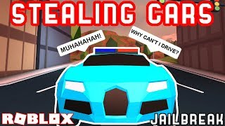 STEALING CARS FROM THE PASSENGER SEAT?! - Roblox Jailbreak Mythbusting
