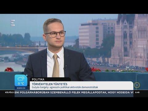 Törvénytelen tüntetés - Deák Dániel - ECHO TV