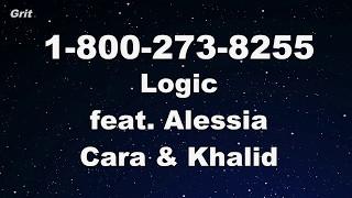 download lagu 1-800-273-8255 Ft. Alessia Cara & Khalid - Logic Karaoke gratis