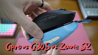 Logitech G305 vs Logitech Gpro Wireless vs Zowie Divina S2 sizes and whats right for you