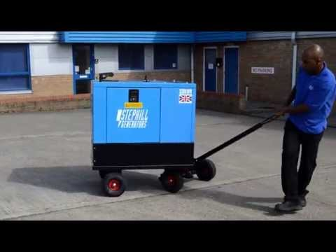 Stephill SSDK10W 10kVA Ultra silent generator -- highly manoeuvrable