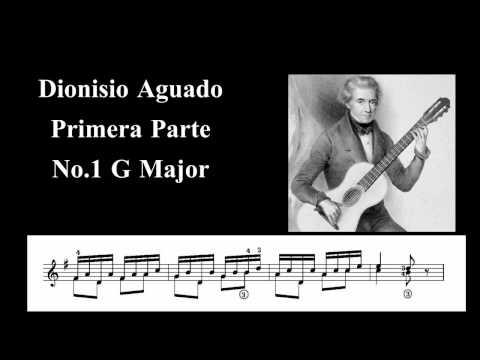 Dionisio Aguado - Aguado - Etude N 1 Metodo De Guitarra - First Part