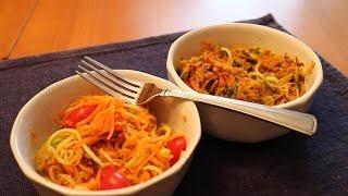 "Zucchini & Sweet Potato ""PASTA"" Salad (Hint: Not really PASTA!)"