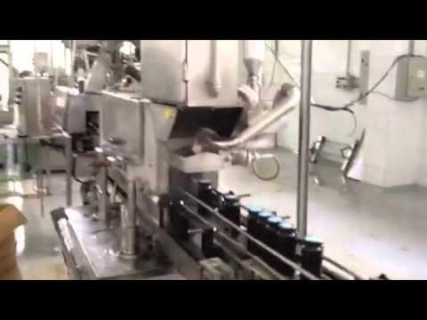 Linha de envase azeitona
