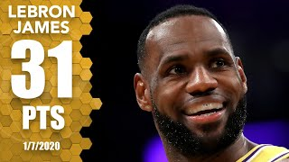 LeBron James drops 31 points, 6 3-pointers vs. Knicks at home | 2019-20 NBA Highlights