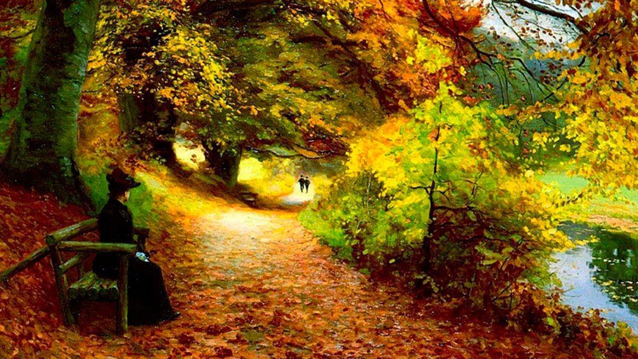 L 39 autunno nella pittura youtube for Foto di alberi da colorare