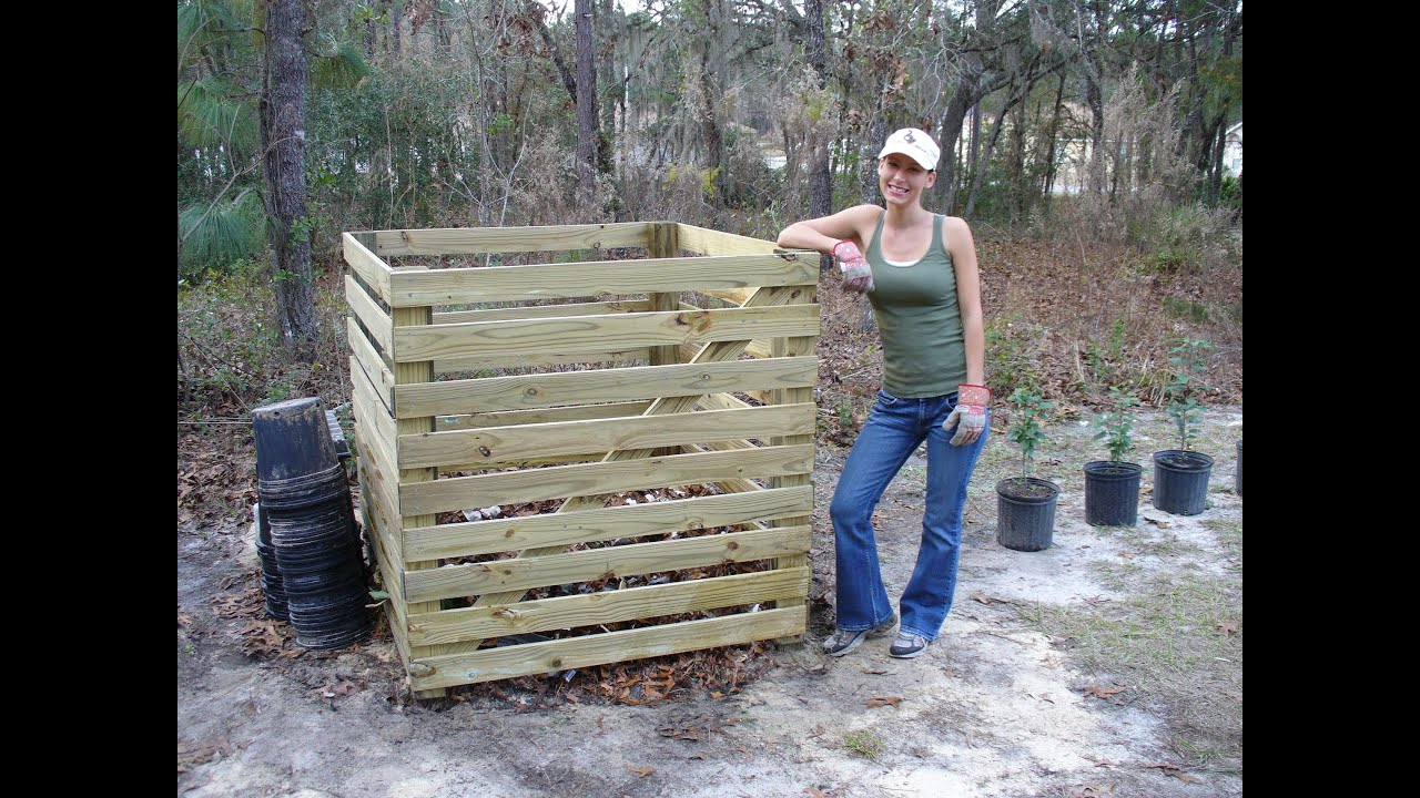 How To Build An Easy Compost Bin With No Power Tools YouTube