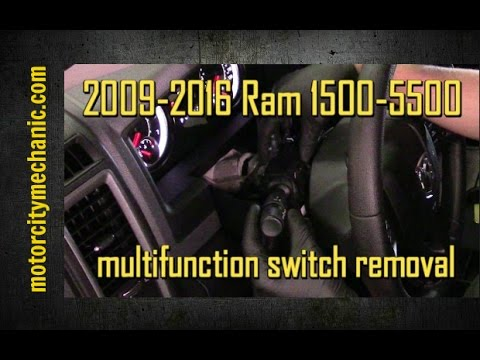 2009-2016 Ram 1500-5500 multifunction switch removal