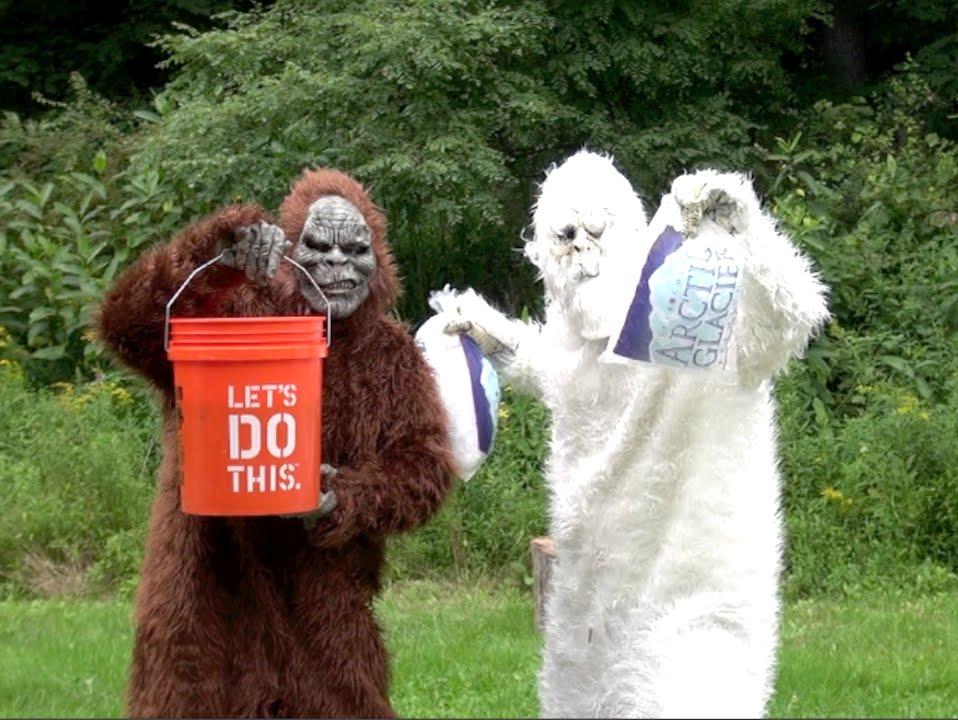 Bigfoot Vs Yeti Epic Ice Bucket Challenge Youtube