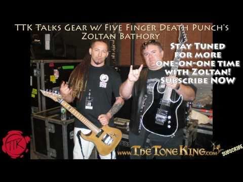 Backstage w/ Zoltan Bathory Five Finger Death Punch Guitarist - BC Rich Guitars - Godsmack Tour 2010