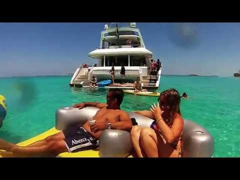 Emma's Champagne Birthday Yacht Party - Rose Island, Bahamas