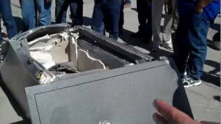 Gun Safes Chinese vs. USA built 100 foot drop test