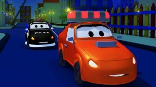 The Car Patrol: fire truck and police car 🚓 in Amber's siren is stolen in Car City 🚒 Trucks Cartoons