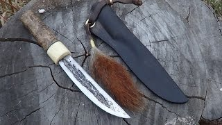 Кованый Якутский нож. Forged Yakut  knife.