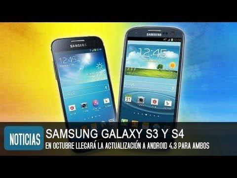 Android 4.3 para Samsung Galaxy S4 y S3 en octubre