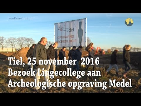 20161125 Tiel Medel Opgraving bezoek RSG Lingecollege
