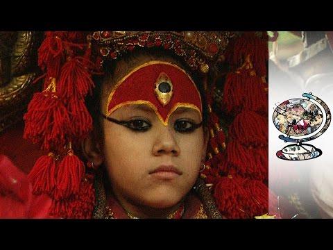 Nepalese Girl Aged 3 Named Goddess