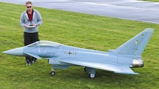 66 KG!! XXXL RC MODEL JET EUROFIGHTER WITH 2x TURBINE ENGINE!! / Jet Power Fair 2017