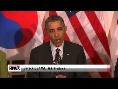 Leaders of South Korea, U.S., Japan agree to 3-way nuclear talks on North Korea
