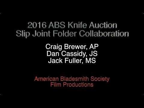 2016 ABS Slip Joint Collaboration Folding Knife- Craig Brewer, Jack Fuller, Dan Cassidy