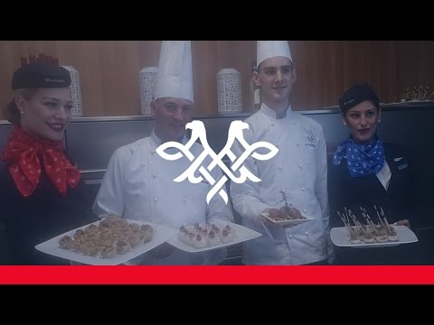 Expo Milano 2015 - Air Serbia Business Class Menu Presentation