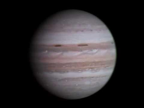 Юпитер с Вояджера-1 (1979) в цвете! (медленее в 2 раза)